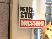 Never stop dressing